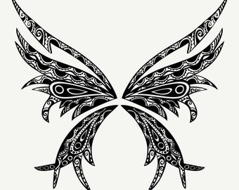 4 Tattoo Butterfly-Digital Download-ClipArt-ArtClip-Digital Art