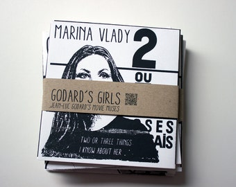 Godard's Girls Screen Printed Zine