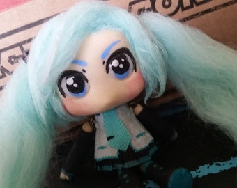 Hatsune Miku Inspired Posable Art Doll