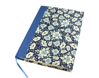 Large Weekly Planner 2017, big planner A5, blue flowers