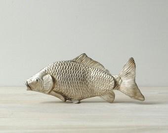 Vintage Metal Fish Letter Holder