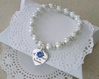 Remembrance Bracelet, Memorial Jewelry, In Memory Of, Miscarriage, Remembrance Gifts, In Remembrance, Pearl Bracelet