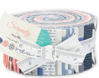 "Serenity Jelly Roll by Amy Ellis for Moda Fabrics 3520JR 40 2.5"" x 42"" Fabric Strips"