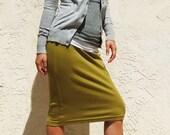 Cool Summer SALE Everyday Pencil Skirt / Best Seller - Moss Green