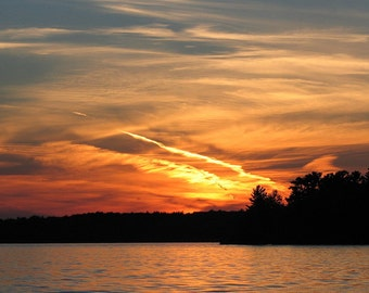 ACEO - Sunset - Photo called Fire - Fire in the Sky