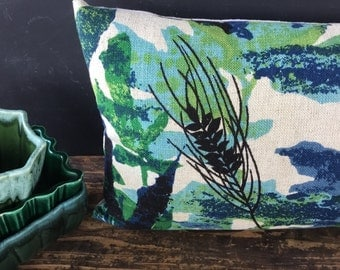 Vintage Linen Fabric Boho Pillow - 12 x 20