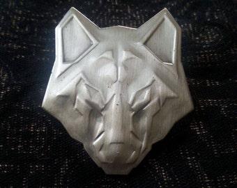 Chrome Wolf Silver Pin