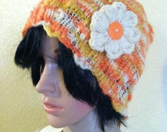 Yellow/Orange/Ivory Fashionable  beanie/hat