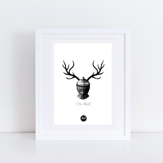 Stag Knight | Signed Print