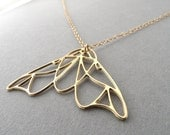 gold moth necklace, moth jewelry, moth necklace, gold moth, butterfly, butterfly necklace, gift for her