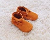 NEW Sybil Leather and Lace Baby Shoes Moccs without lace