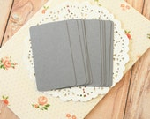 Dark Grey 50pc handmade blank Business Cards