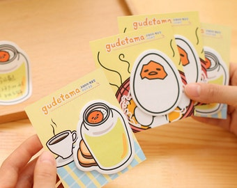 Gudetama Cartoon Lazy Egg shapes sticky notes