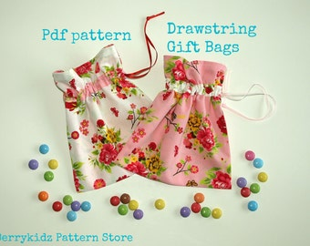 Sewing bag pattern, diy gift bags, Bag Pattern pdf, Gift Bag pattern, Small bag pattern, Craft pattern, Easy sewing pattern - S121