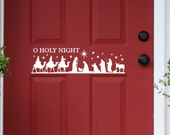 Christmas Nativity Scene Door Decal, Holiday Decoration, Vinyl Wall Lettering, Vinyl Wall Decals, Vinyl Decals, Vinyl Letters, Wall Quotes