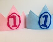 Baby's Personalized Felt Birthday Crown - Handmade, Dress Up, Costume, King, Queen, Prince, Princess, Superhero