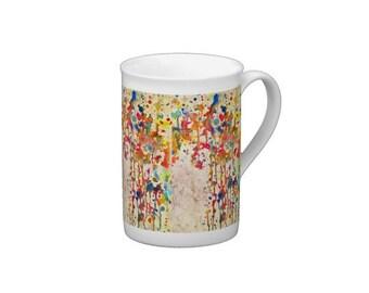 Abstract I, Chaos Series Original Art Porcelain Tea Cup/Mug