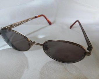 Kenzo Oval Metal Pierced Arms Eye Glass FRAMES Only