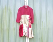 funky little romantic Jacket Coat Dress - upcycled clothing women's clothing  tattered and raw / jersey knit / artsy cltohing by CreoleSha