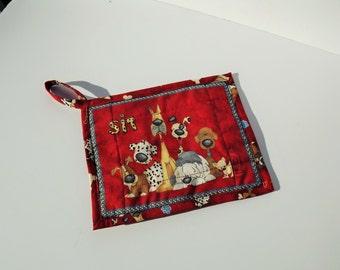 Insulated Pot Holder, Novelty Dog Print, Hot Pot Trivet