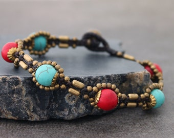 Fire And Ice Traditional Woven Bracelet