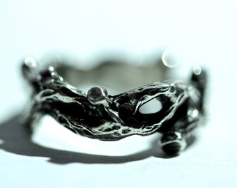 Silver Twined Tree Branch Ring sizes 4 to 12