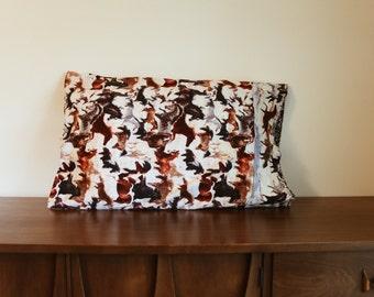 handmade horse pillow case