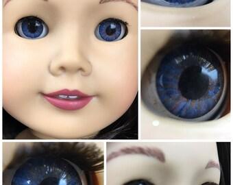 Custom American Girl Eyes Indigo and Copper