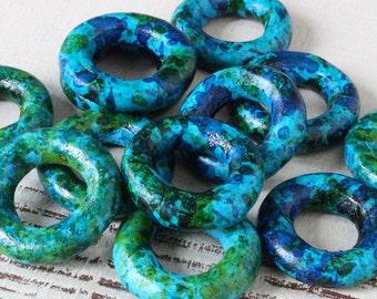 Mykonos Beads - Cheerio Donut Beads - Jewelry Making Supply - Cheerio Beads - 24mm Choose Your Amount