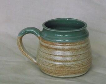 Green and Tan Mug