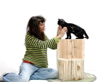 Tree Stump Cat Perch Pet Stand Display Photo Prop Dog