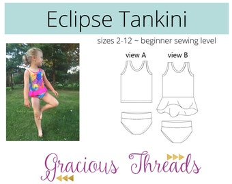 Eclipse Tankini PDF Sewing Pattern 2T-12