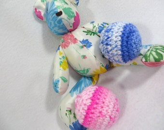 Baby Rattle Ball, Pink or Blue Baby's First Ball, Baby Shower Gift, Handmade Infant Toy, Baby Shaker Toy, Made by Charlene, Made to Order