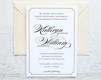 Kathryn Custom Wedding Invitation