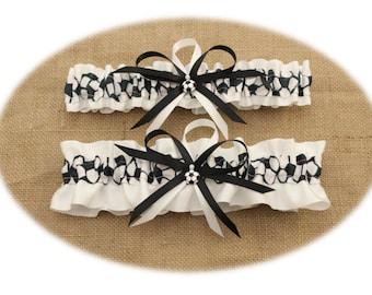 Wedding Garter , White Satin, Soccer, Bridal Garter, Sports, Prom Garter, Keepsake Garter (Your Choice, Single or Set)