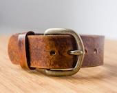 Manchette de boucle ajustable ceinture Vintage cuir vieilli