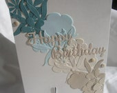 Happy Birthday Cascading Flowers Birthday Card