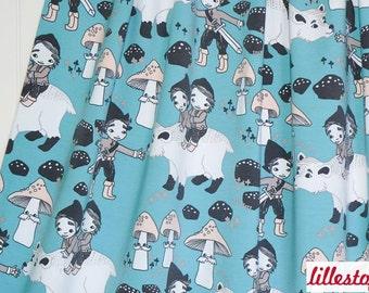 Leena Renko Woods Stretchjersey of Lillestoff Organic Cotton Fabric