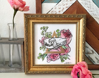 Framed: Mink and Peonies