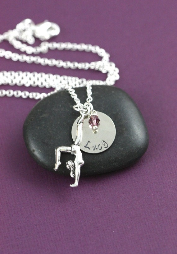 Personalized Gymnast Gift - Charm Necklace