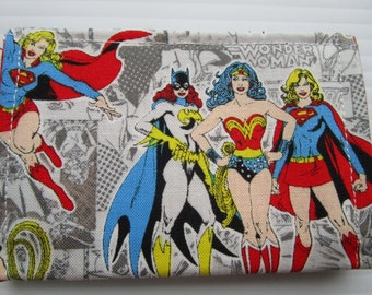 Wonderwoman, Batgirl, Supergirl, Superhero Wallet, Credit Card Wallet, Marvel Comics, Comic Books, Comic Con, Justice League, Cosplay Wallet