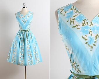 Princess Peggy . vintage 1950s dress . 50s summer dress . 5677