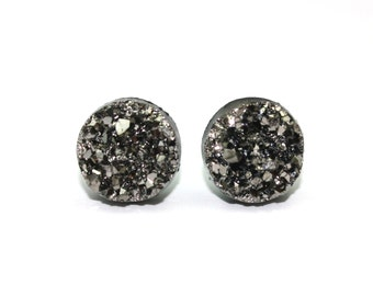 Charcoal Sparkle Earrings