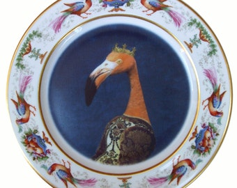 """Baroness Flamant - Altered Vintage Plate 9.5"""""""