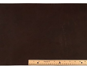 SCRAP LACE LEATHER Dark Brown Cowhide 12 inch x 18 inch