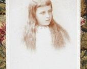 Cabinet Card - Charming Girl w/ Long Hair