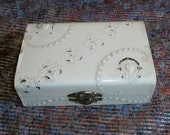RESERVED for Carole Ann - Victorian Celluloid Vanity / Manicure Box
