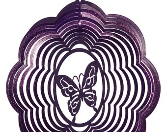 Butterfly Cloud Swirly Metal Wind Spinner