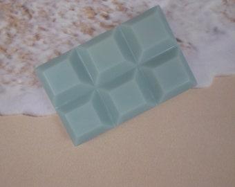 Island Breeze Soy Wax Melts | Clamshell Wax | Waffle Block Wax Tarts | Highly Scented Long Lasting Wax | Blue Wax Melts | Home Fragrance