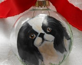 Japanese Chin Ornament ~ Pet Ornament ~ Gifts Under 30 ~ Japanese Chin ~ Painted Dog Ornament